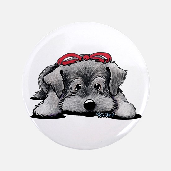 "KiniArt Schnauzer 3.5"" Button"