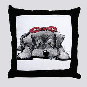 KiniArt Schnauzer Throw Pillow