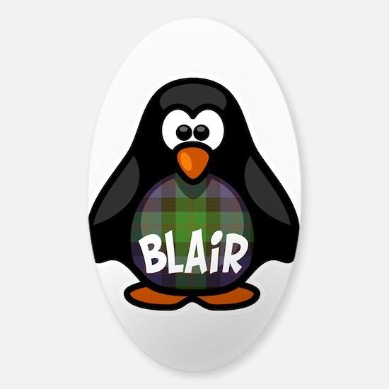 Blair Tartan Penguin Sticker (Oval)
