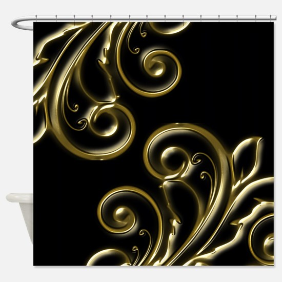 Cute Filigree Shower Curtain
