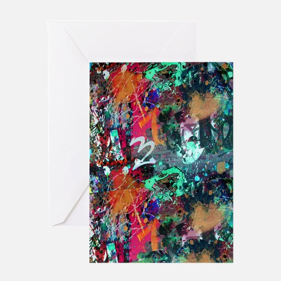 Graffiti and Paint Splatter Greeting Cards