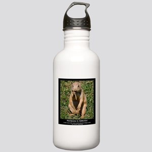 Marijuana is Addictive Stainless Water Bottle 1.0L