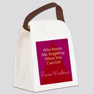 Who Needs Knightley? Canvas Lunch Bag