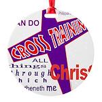 CrossTraining.png Round Ornament