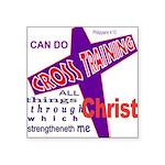 CrossTraining.png Square Sticker 3