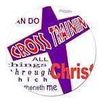 CrossTraining.png Round Car Magnet