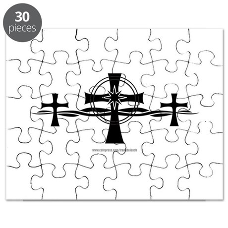 TribalArtCrossStarburst Puzzle by frankdeloach