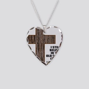 OLD RUGGED CROSS Necklace Heart Charm