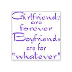 GIRLFRIENDS Square Sticker 3