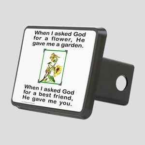 BFF GOD GAVE ME YOU Rectangular Hitch Cover
