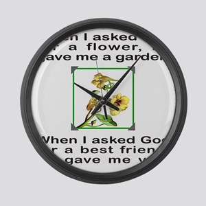 BFF GOD GAVE ME YOU Large Wall Clock