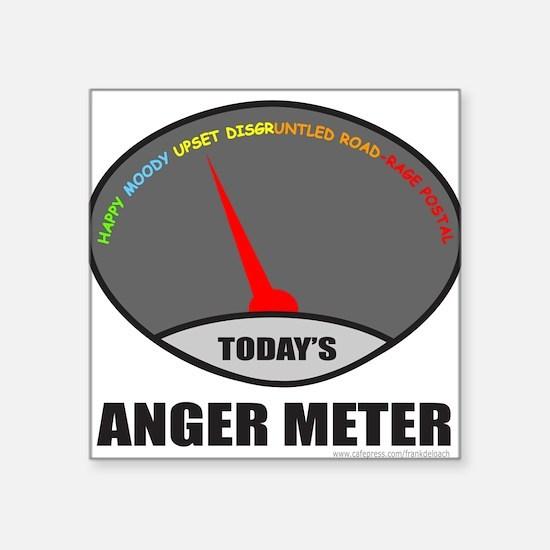 "ANGER METER Square Sticker 3"" x 3"""