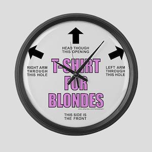 T-ShirtForBlondes Large Wall Clock
