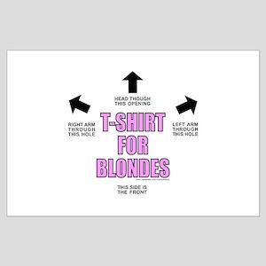 T-ShirtForBlondes Large Poster
