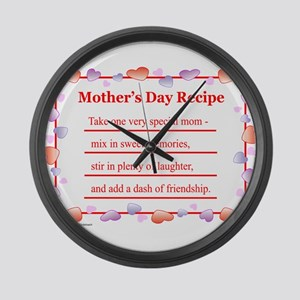 MothersDayRecipe Large Wall Clock