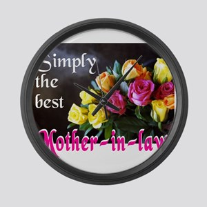 SimplyBestMotherinlawJournal Large Wall Clock