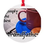 SimplyTheBestGrandfatherCoffeeCup.png Round Orname