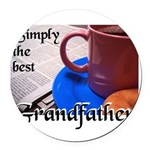 SimplyTheBestGrandfatherCoffeeCup.png Round Car Ma