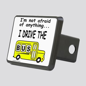 I DRIVE THE BUS Rectangular Hitch Cover