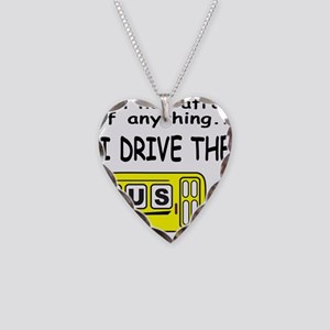 I DRIVE THE BUS Necklace Heart Charm