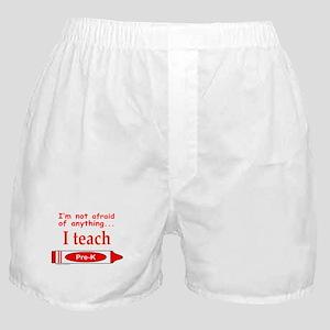 ITeachPreKRed Boxer Shorts
