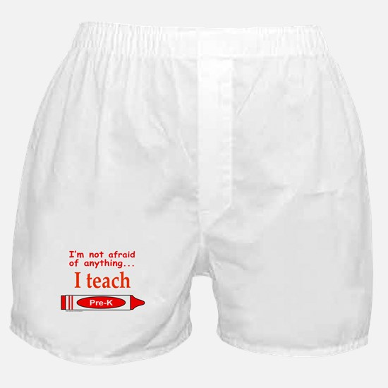 ITeachPreKRed.png Boxer Shorts