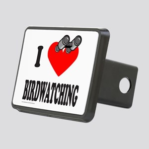 I HEART BIRDWATCHING Rectangular Hitch Cover