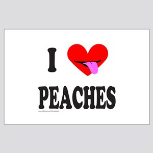 I HEART PEACHES Large Poster