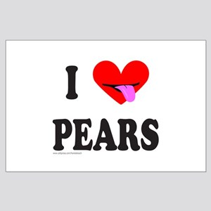I HEART PEARS Large Poster
