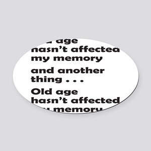 OLD AGE Oval Car Magnet