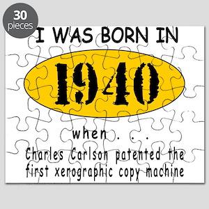 BORN IN 1940 Puzzle