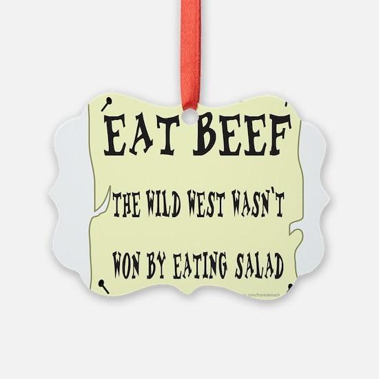 EAT BEEF Ornament