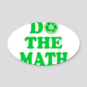 RECYCLE/RECYCLING Oval Car Magnet