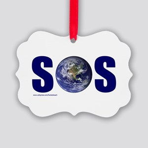 SOS EARTH Picture Ornament