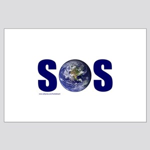 SOS EARTH Large Poster