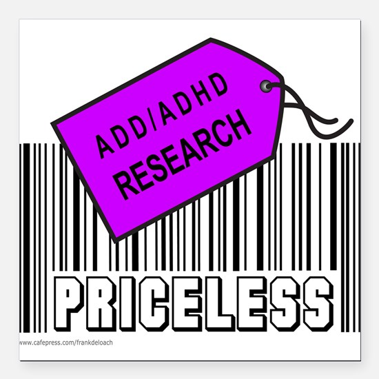 "ADD/ADHD CAUSE Square Car Magnet 3"" x 3"""