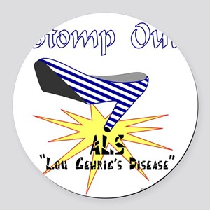 ALS AWARENESS Round Car Magnet