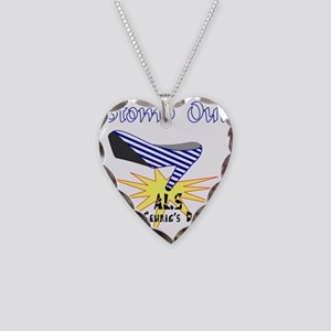 ALS AWARENESS Necklace Heart Charm