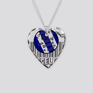 LOU GEHRIG'S DISEASE Necklace Heart Charm