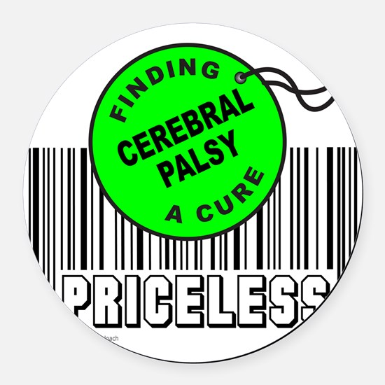 Cute Cerebral palsy Round Car Magnet