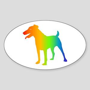 Jagdterrier Oval Sticker