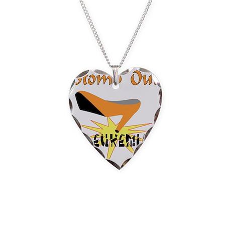 LEUKEMIA AWARENESS Necklace Heart Charm