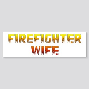 """Firefighter Wife"" Bumper Sticker"