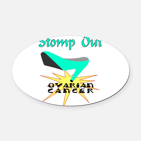 Unique Ovarian cancer Oval Car Magnet