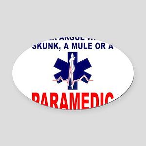 PARAMEDIC/EMT Oval Car Magnet