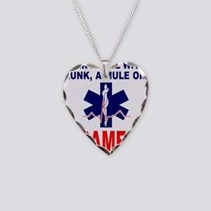 PARAMEDIC/EMT Necklace Heart Charm