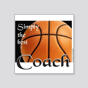 "BASKETBALL Square Sticker 3"" x 3"""