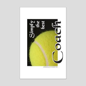 SimplyTheBestCoachTennis Mini Poster Print