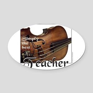 BEST TEACHER Oval Car Magnet