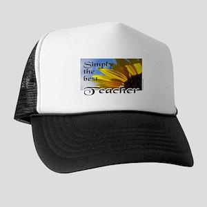 3-SimplyTheBestTeacherCup Trucker Hat